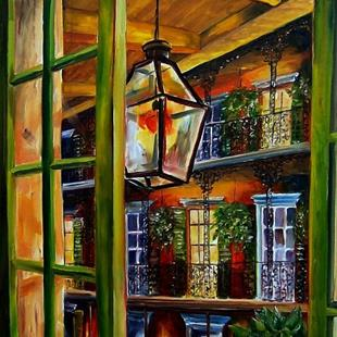 Art: View from a French Quarter Balcony - SOLD by Artist Diane Millsap