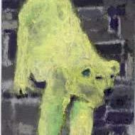 Art: POLAR BEAR, squinting by Artist Gabriele Maurus