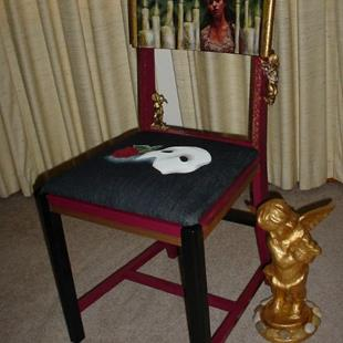 Art: Phantom of the Opera Chair by Artist Vicky Helms