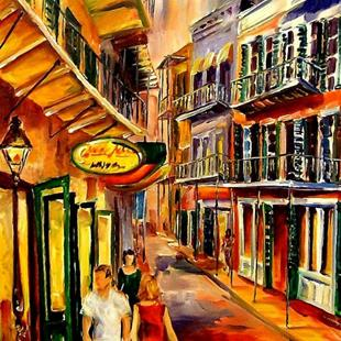 Art: Bourbon Street - A Day without Care - SOLD by Artist Diane Millsap