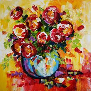 Art: Brilliant Roses by Artist Laurie Justus Pace