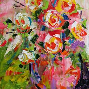 Art: Late Roses by Artist Laurie Justus Pace