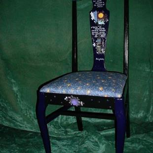 Art: Star Chair SOLD by Artist Vicky Helms