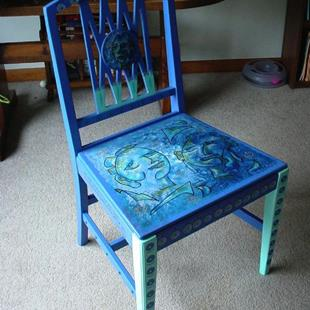 Art: Man Woman chair SOLD by Artist Vicky Helms