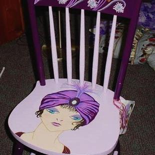 Art: Flapper Chair SOLD by Artist Vicky Helms
