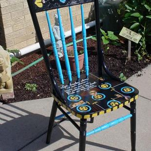 Art: Light Breaks Chair SOLD by Artist Vicky Helms