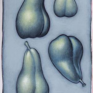 Art: Pear Studies by Artist Valerie Jeanne