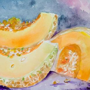 Art: Muskmelons by Artist Delilah Smith