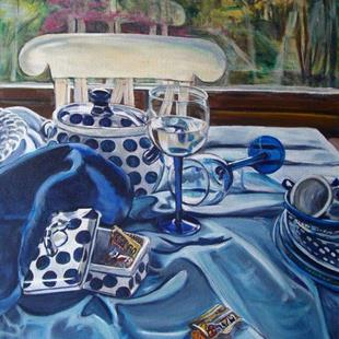 Art: Inspired by Janet Fish: Polish Pottery XXIV by Artist Heather Sims