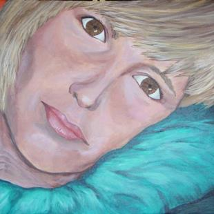 Art: Tracey Up Close and Personal by Artist Donna Gill