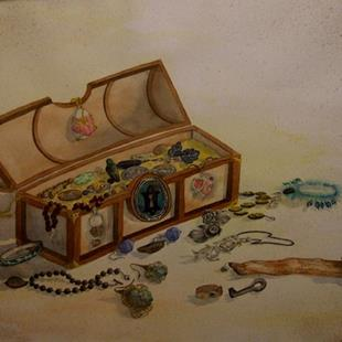 Art: Mary Lu's Treasure Chest by Artist Deborah Leger