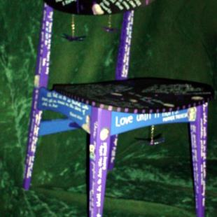 Art: Quote Chair by Artist Vicky Helms