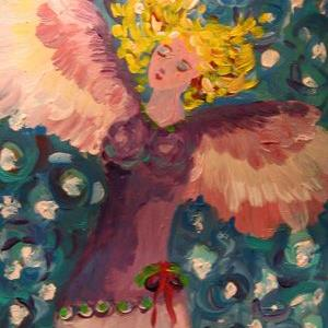 Art: Christmas Angel-sold by Artist Delilah Smith