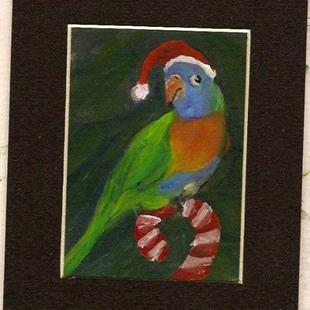 Art: Perched upon a Candy cane by Artist Deborah Sprague