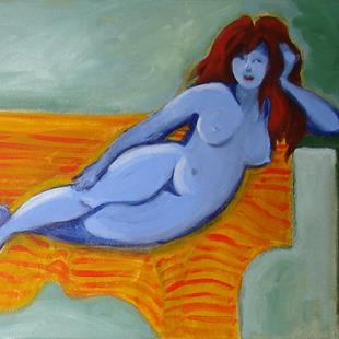 Art: Purple Nude Revisited by Artist Muriel Areno