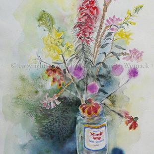 Art: Miracle Whip & Texas Wildflowers by Artist Louise Hendry Womack