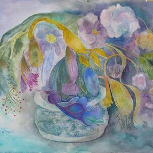 Art: Flowers from an Imaginary Garden I by Artist Louise Hendry Womack
