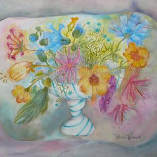 Art: Flowers from an Imaginary Garden #2 by Artist Louise Hendry Womack