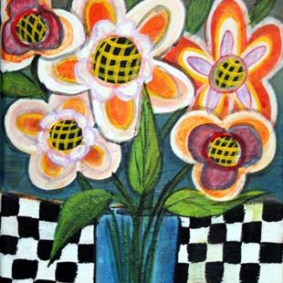Art: SPRING FLOWERS-sold by Artist LUIZA VIZOLI