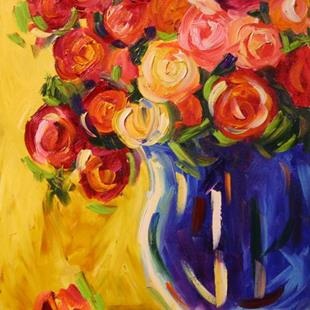 Art: New Years Roses by Artist Laurie Justus Pace