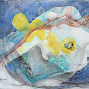 Art: The Swimmer #1 by Artist Louise Hendry Womack