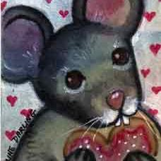 Art: Valentine Cookies by Artist Catherine Darling Hostetter