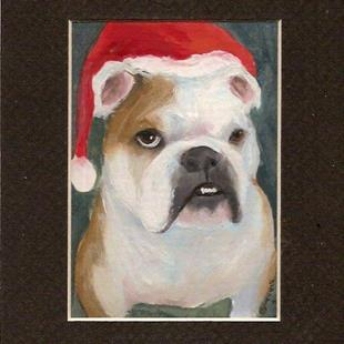 Art: Christmas Bull by Artist Deborah Sprague
