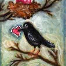 Art: Love Birds by Artist Catherine Darling Hostetter