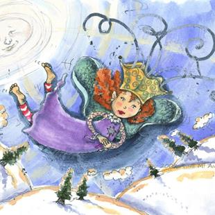 Art: Snow Fairy Princess  by Artist Ann Murray