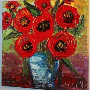 Art: RED POPPIES BOUQUET by Artist LUIZA VIZOLI