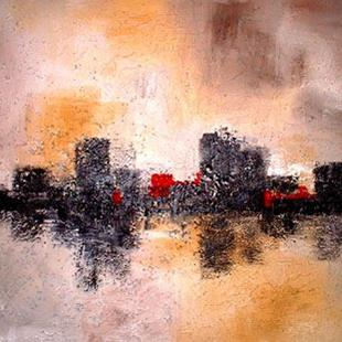 Art: Reflections of a city by Artist Elena Feliciano