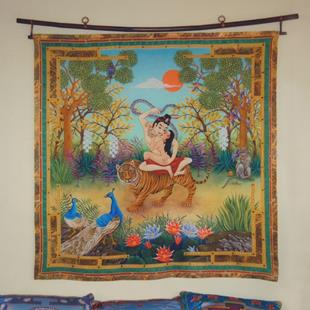 Art: Dombi and the Dakini Wall Hanging or Square by Artist Nadean O'Brien