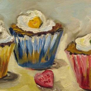 Art: Kiss Me Cupcake by Artist Delilah Smith