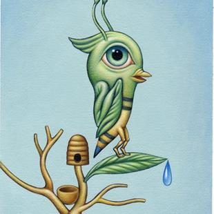 Art: plight of the bumblebird by Artist Valerie Jeanne