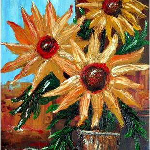 Art: SUNFLOWERS by Artist LUIZA VIZOLI