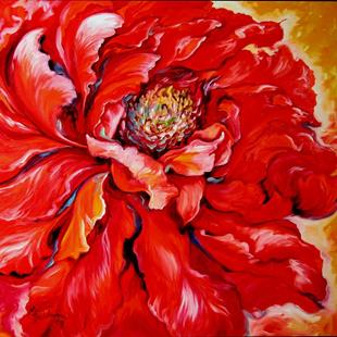 Art: LOVE is FOREVER ~ RED PEONY by Artist Marcia Baldwin