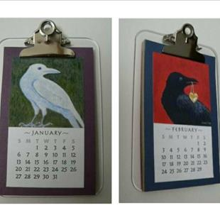 Art: Crow Art Calendar 2008 by Artist Sara Field