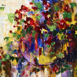 Art: Pot of Color by Artist Laurie Justus Pace
