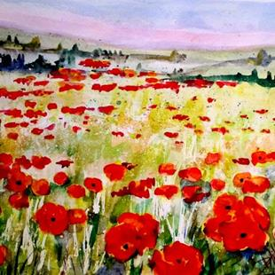 Art: Poppy Fields No. 2 by Artist Delilah Smith