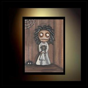 Art: Miss Muffett and the Spider by Artist Charlene Murray Zatloukal