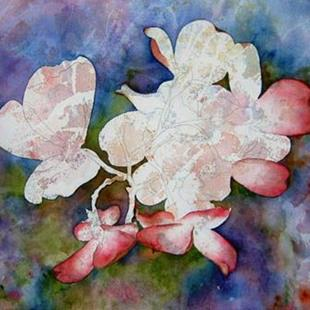 Art: Unfinished Poured Dogwoods by Artist Deborah Leger