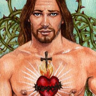 Art: Sacred Heart by Artist Mark Satchwill