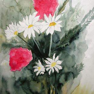 Art: unfinished daisies by Artist Shawn Marie Hardy