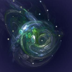 Art: GAIA ~ THE LIVING PLANET by Artist RUTH J JAMIESON