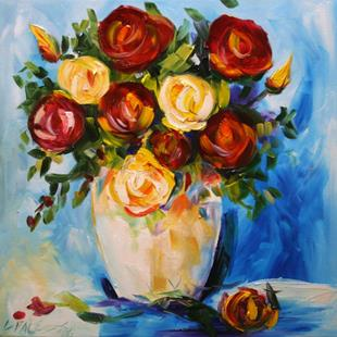 Art: Barbara's Dozen Roses by Artist Laurie Justus Pace