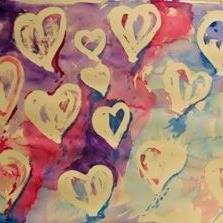 Art: Flying Hearts by Artist Delilah Smith