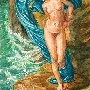 Art: After Sir Edward Poynter's Andromeda by Artist Erika Nelson