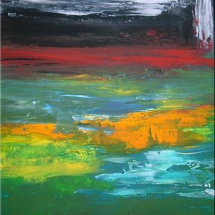 Art: ORIGINAL abstract PAINTINGS MODERN ART,acrylic on canvas by Artist Nataera
