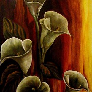 Art: Mysterious Calla Lily - SOLD by Artist Diane Millsap