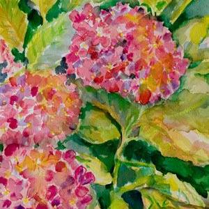 Art: Hydrangea-sold by Artist Delilah Smith